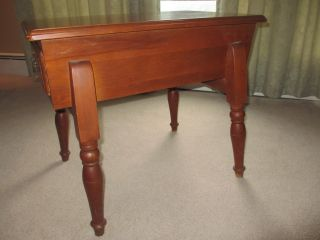 Vintage Rock Maple End Table With Drawer Rockport Rock Maple Circa 1960 ' S photo