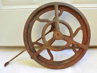 Antique Rustic Cast Iron 12