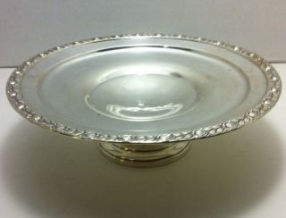 Sterling Silver Compote Large Use Or Scrap Nr Weighted 286.  9 Grams photo