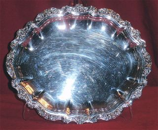 Vintage 1950 - International Silver - Countess Pattern,  Large Oval Serving Tray photo