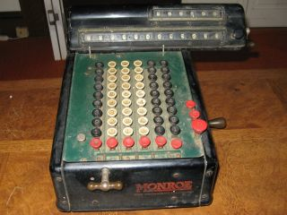 Antique Monroe High Speed Adding Calculator New York U.  S.  A.  - 1920 ' S To 1930 ' S photo