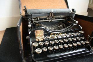 Antique Typewriter Early Portable Folding Erika S 3081 Schreibmaschine 1910 photo