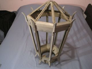 Antique Big Street Light Top Cage Top Opens Cast Aluminum 1930 ' S photo