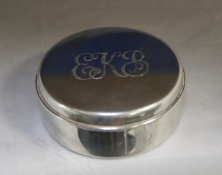 Vintage Tiffany & Co Sterling Silver Container Monogrammed Q47 photo
