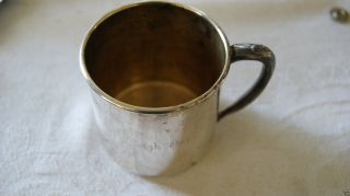 Vintage Oneida Silversmith,  Child ' S Driking Cup,  Engraved Name On The Cup. photo
