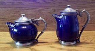 University Club Los Angles Reed & Barton Silver Soldered Ormolu Tea Pots photo