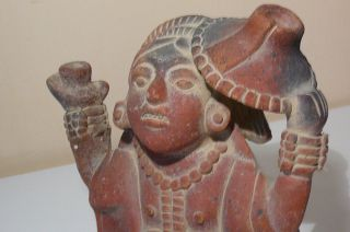 Old.  Rare.  Ceramic Figure.  Mexican Shaman. photo