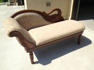 Antique Victorian Reproduction Settee photo