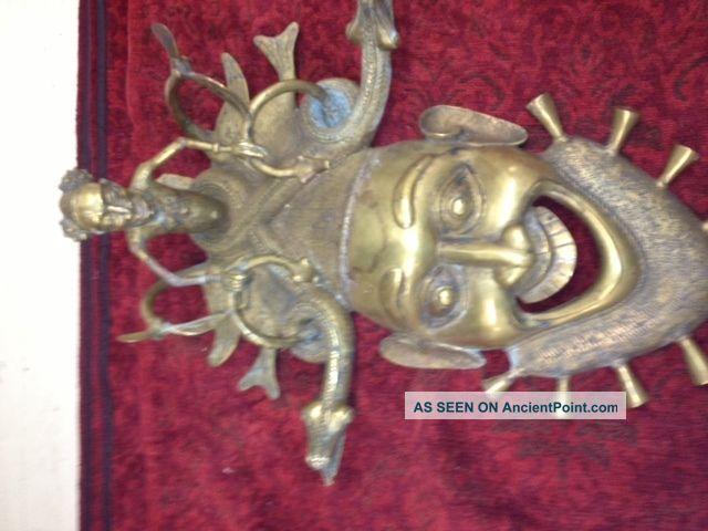 African Mask Cameroon,  King Mask Antique.  Bamun Bamikiele Tribes Other photo