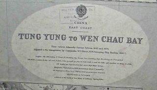 C1891 British Admiralty Hong Kong Maritime Charts China Coastline Tung Yung photo