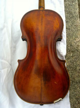 1600s - 1700s Old Rare French Flemish Violin Del Gesu - Guarneri Amati Italy Grafted photo
