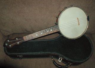 Vintage Banjo Uke Vega Banjolele (?) 1920s Ukulele W/original Case photo