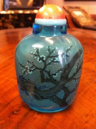 Chinese 19th Century Inside Painted Snuff Bottle Signed photo