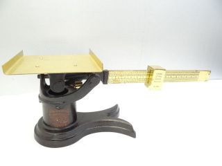 Antique Metal Cast Iron Brass Weis Mfg Co Monroe Michigan Working Postal Scale photo