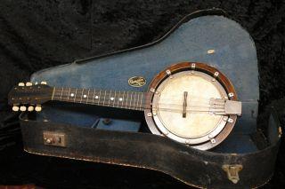 Antique Banjo Mandolin Banjolin Beare & Son Toronto 4 Double String photo