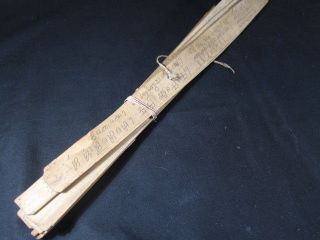 Rare Old Antique Burmese Buddhist Palm Leaf Manuscripts photo