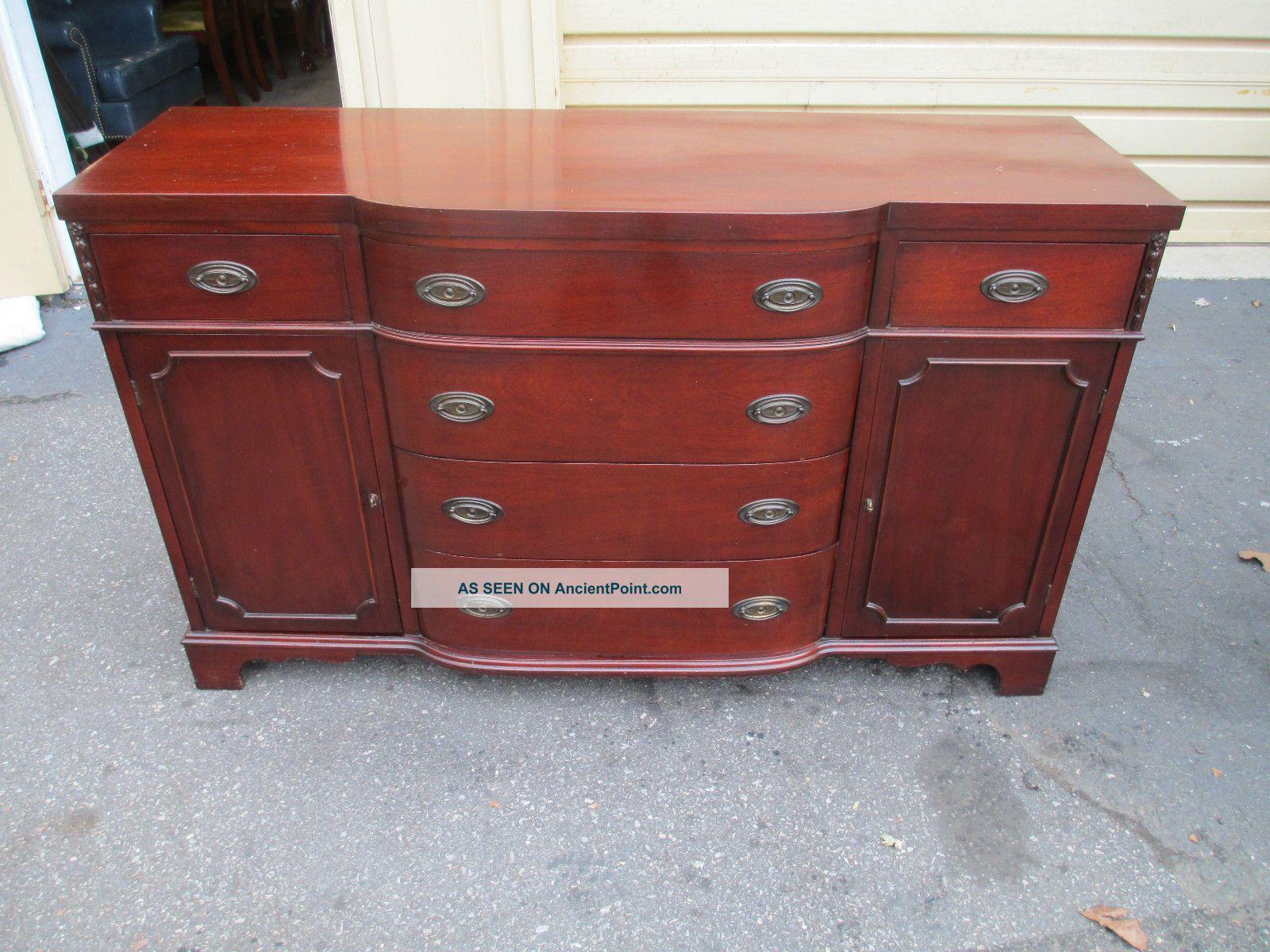 52160 Antique Mahogany Buffet Sideboard Server 1900-1950 photo