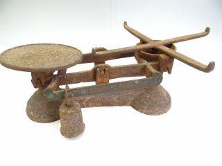 Antique Metal Cast Iron Broken Merchants Grocers Postal Scale Body Weight Parts photo