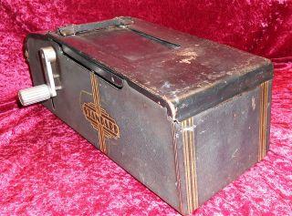 Vintage Steampunk Art Deco Standard Kantslip Receipt Register W/key Works photo