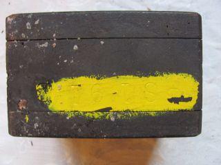 Vtg Steam Punk Art Lima Locomotive Rr Train Foundry Wood Mold Machine Age Rr photo