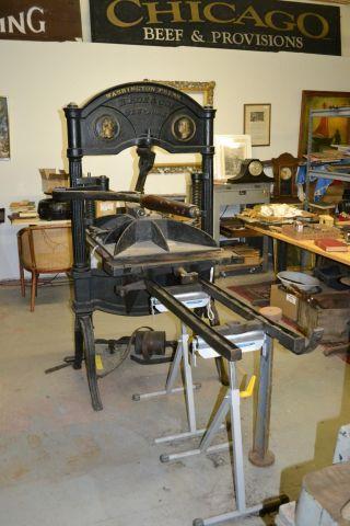 Ca.  1835 Hoe Washington Iron Handpress Printing Press 23