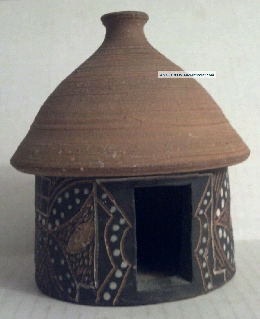 Carved Pot Clay Home Lesotho Africa Other photo