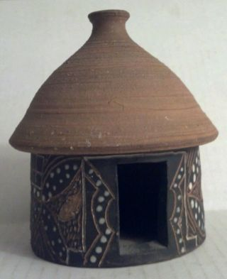 Carved Pot Clay Home Lesotho Africa photo