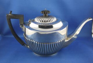 Detailed Antique Birks Sterling Silver 4 Cup Tea Pot photo
