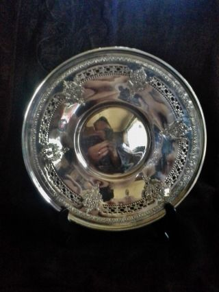 Birks Sterling 10 In.  Reticulated Plate Weighs 294 Grams Not Scrap photo
