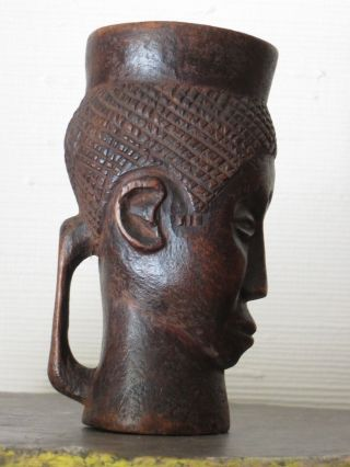 Antique Carved Kuba Palm - Wine Cup,  Congo photo