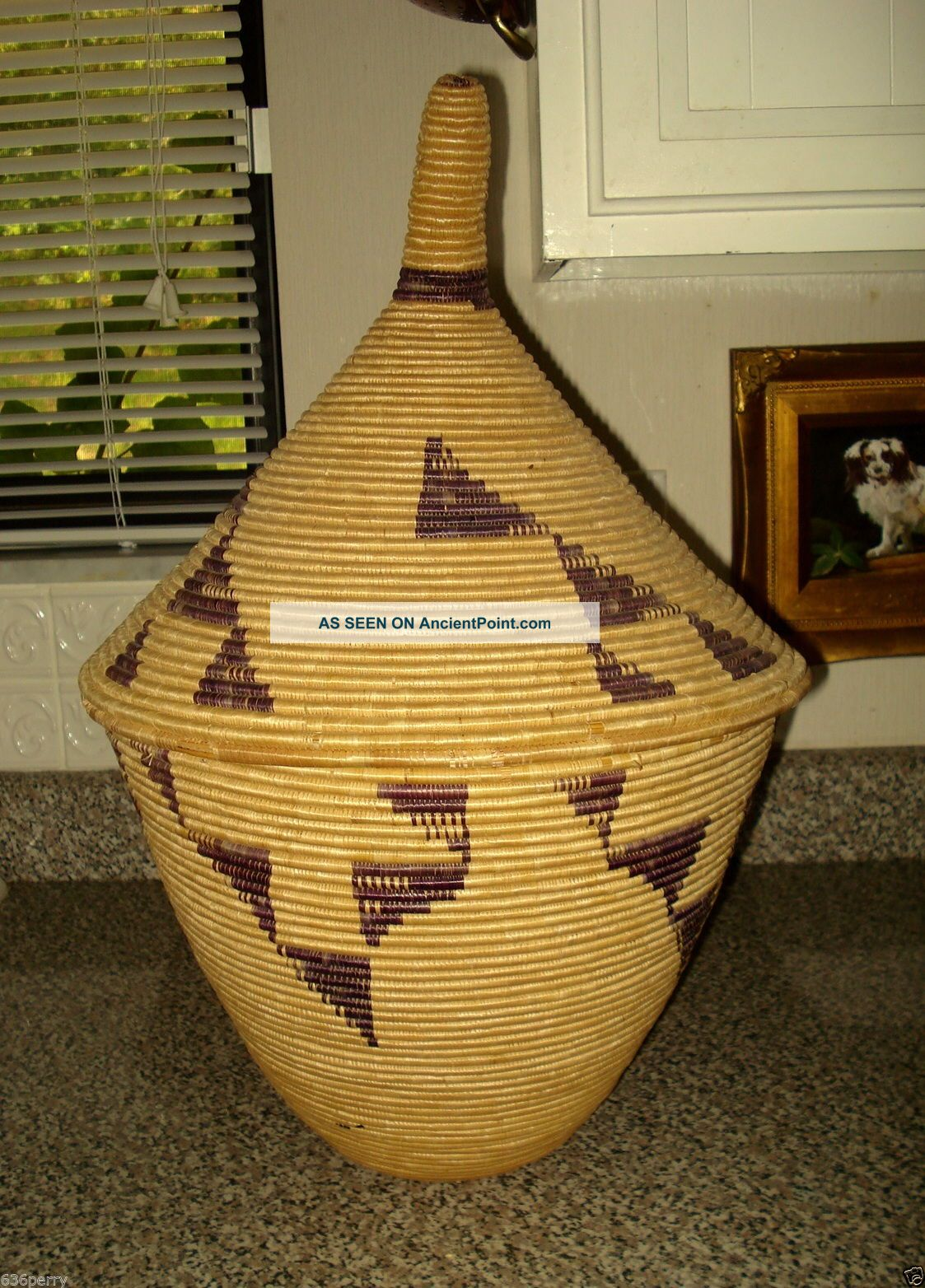 Vintage Tutsi Lidded Museum Quality Woven Rwawda,  Watutsi,  Basket Mid Century Other photo