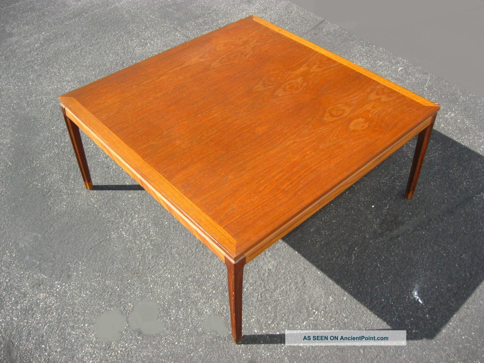 Large Vintage Made In Denmark Teak Wood Coffee Table Danish Mid Century  Modern