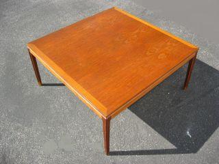 Large Vintage Made In Denmark Teak Wood Coffee Table Danish Mid Century Modern photo