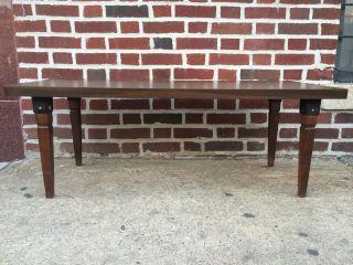 Mid Century Wooden Coffee Table photo