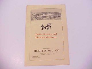 1930 Monitor Industrial Coffee Grinders Brochure Brocton New York 8 Pages Vg+ photo