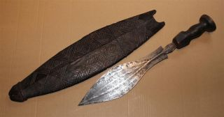 Congo Old African Knife Ancien Couteau Luba Kete Kongo Africa D ' Afrique Kongo photo