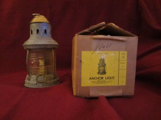 Antique Old Galvanized Metal Brass Small Nautical Ships Cabin Lamp Lantern Perko photo