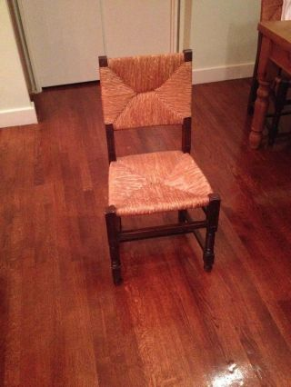 Antique Country Wicker & Wood Chair Set - 8 Total photo