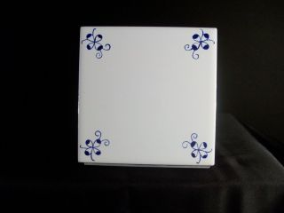 Decorative Kitchen Backsplash Tiles: (60) Delft Style Blue & White photo