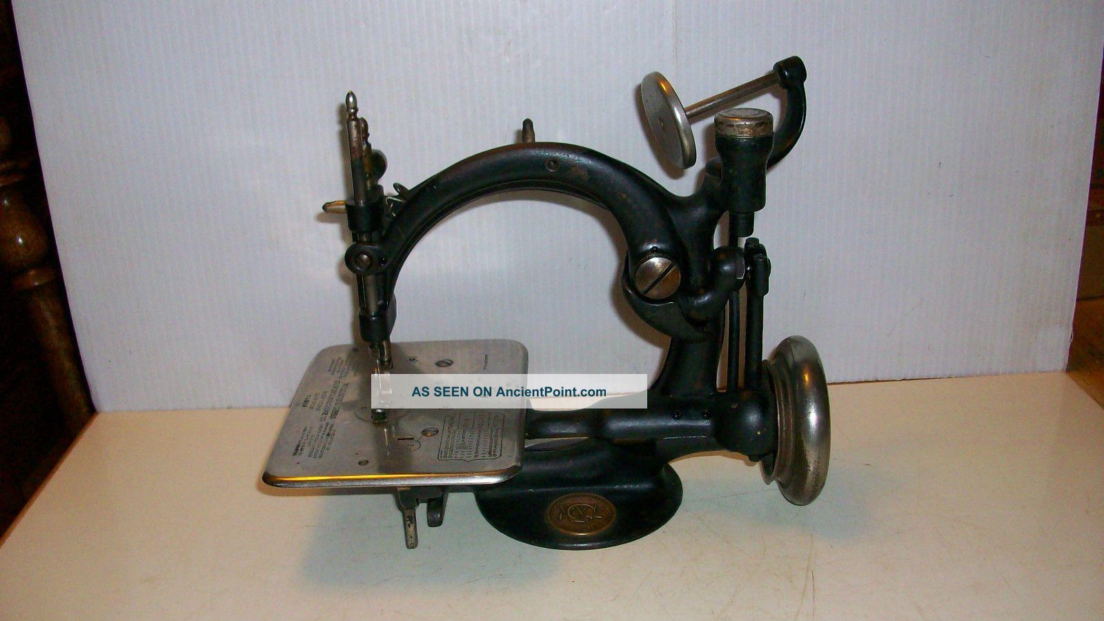 Antique Rare Willcox Gibbs Sewing Machine Works 1883 Carleton Noble Jea Gibbs Sewing Machines photo