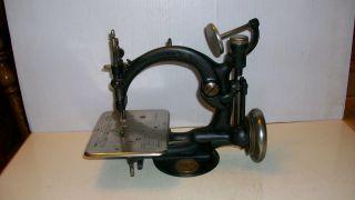 Antique Rare Willcox Gibbs Sewing Machine Works 1883 Carleton Noble Jea Gibbs photo