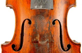 Old,  Antique 19th Century French Violin For Repair And Restoration - photo