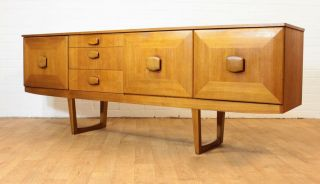 Mid Century 6.  5 Ft Teak Credenza By Stonehill.  Long And Low.  Danish Inspired. photo