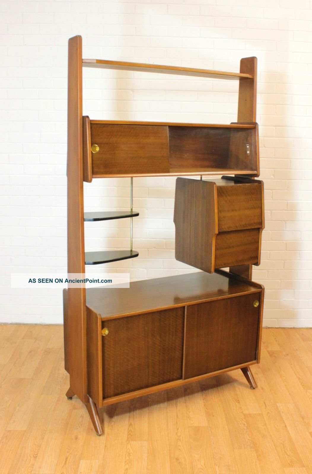 Wow Retro Upright Drinks Cabinet/bar Or Room Divider.  Mid Century.  Vintage.  Mcm Post-1950 photo