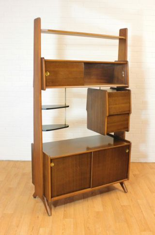 Wow Retro Upright Drinks Cabinet/bar Or Room Divider.  Mid Century.  Vintage.  Mcm photo