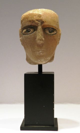 Ancient South Arabian Alabaster Head With Inlaid Eyes photo