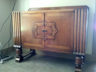 Wonderful Antique Oak Sideboard photo