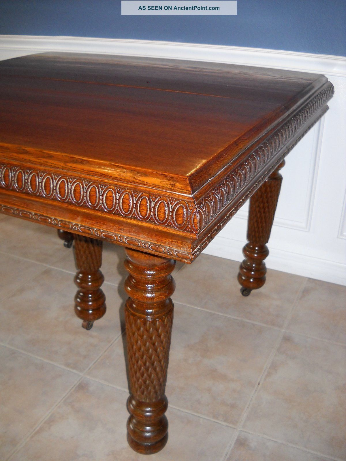Carved Dining Table Carved Italian Oystered Olive Wood