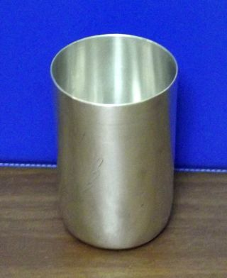 Vintage Silver 800 Wine Vodka Polish Engraved Cup Goblet Not Reserved photo