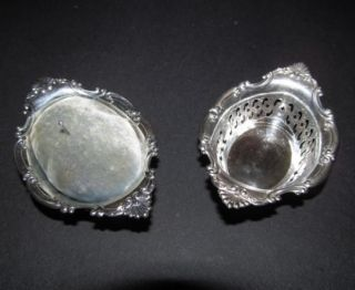Vintage Gorham Sterling Silver Set Of 2 Pin Cushion / Nut Dish Pierced photo